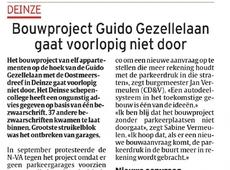 Bouwproject Guido Gezellelaan gaat voorlopig niet door