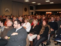 180 aanwezigen: de zaal was net gepast!