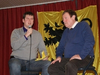 Peter Dedecker, federaal parlementslid, interviewt Siegfried Bracke